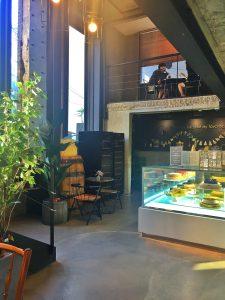 Interior of C27 café