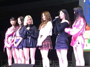 girl group (G)I-DLE on stage