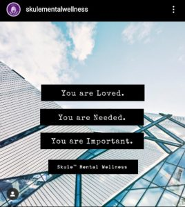 "Instagram post saying ""You are loved. You are needed. You are important."""