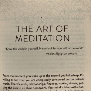 The Art of Meditation ancient egyptian proverb quote.