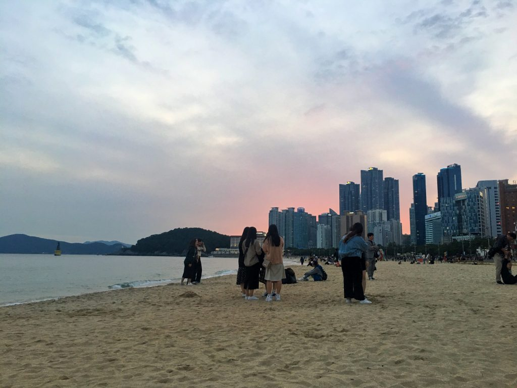 haeundae beach sunset
