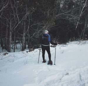 picture of me snowshoeing