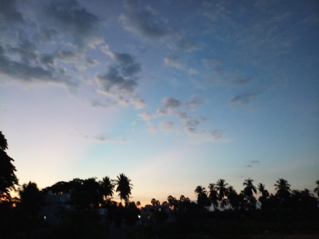 Twilight in Gobichettipalayam.