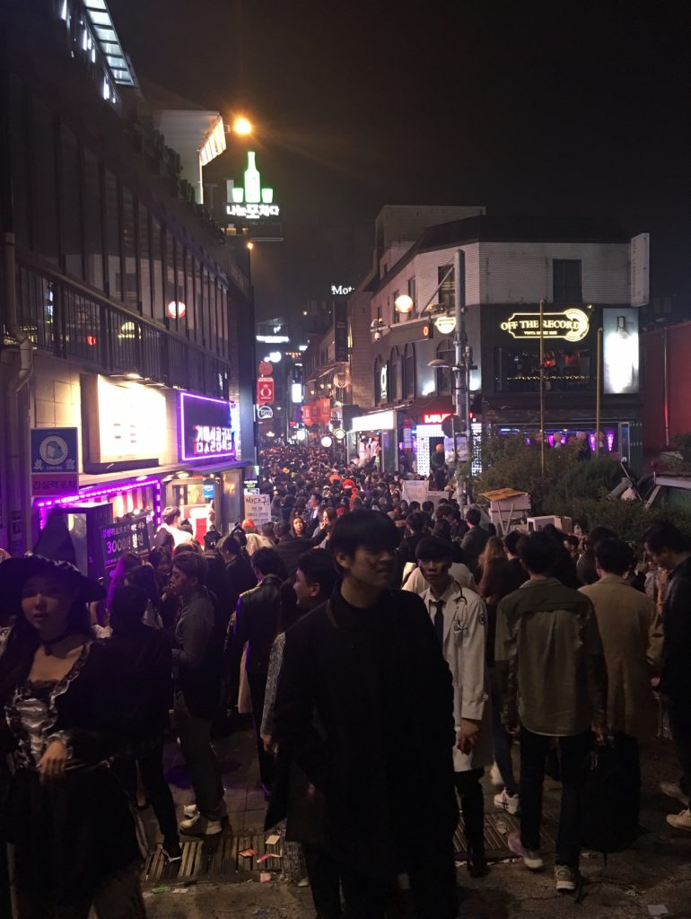Itaewon halloween night