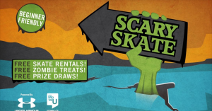 The poster publicizing the MoveU Scary Skate.
