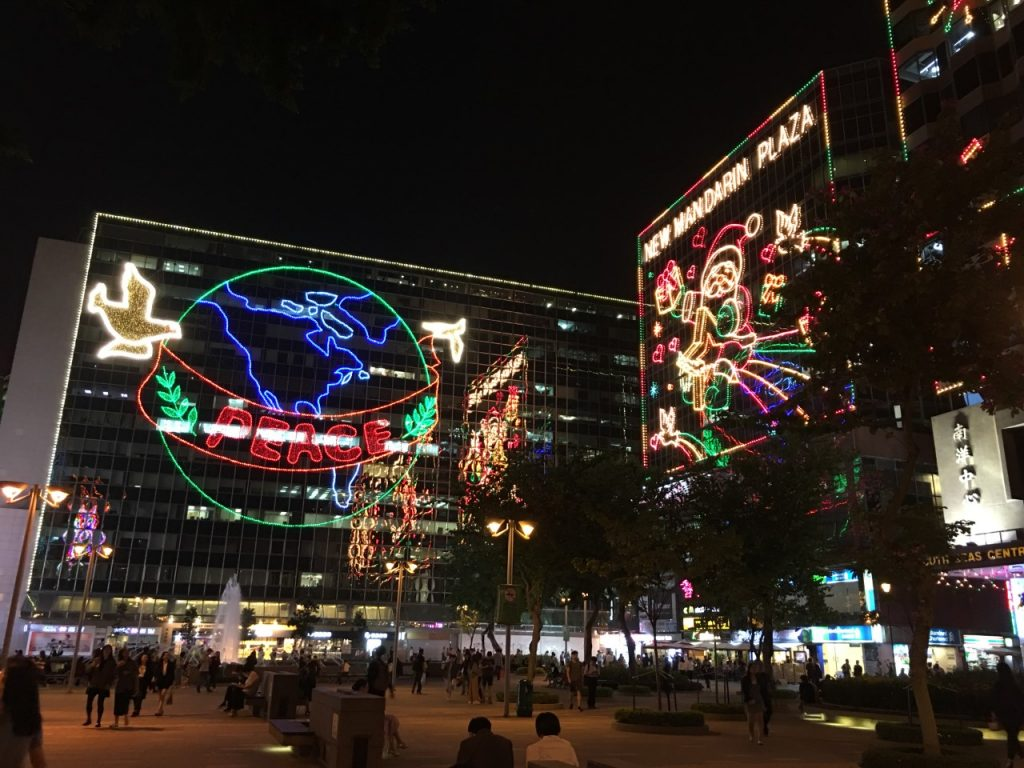 Christmas decorations in Hong Kong