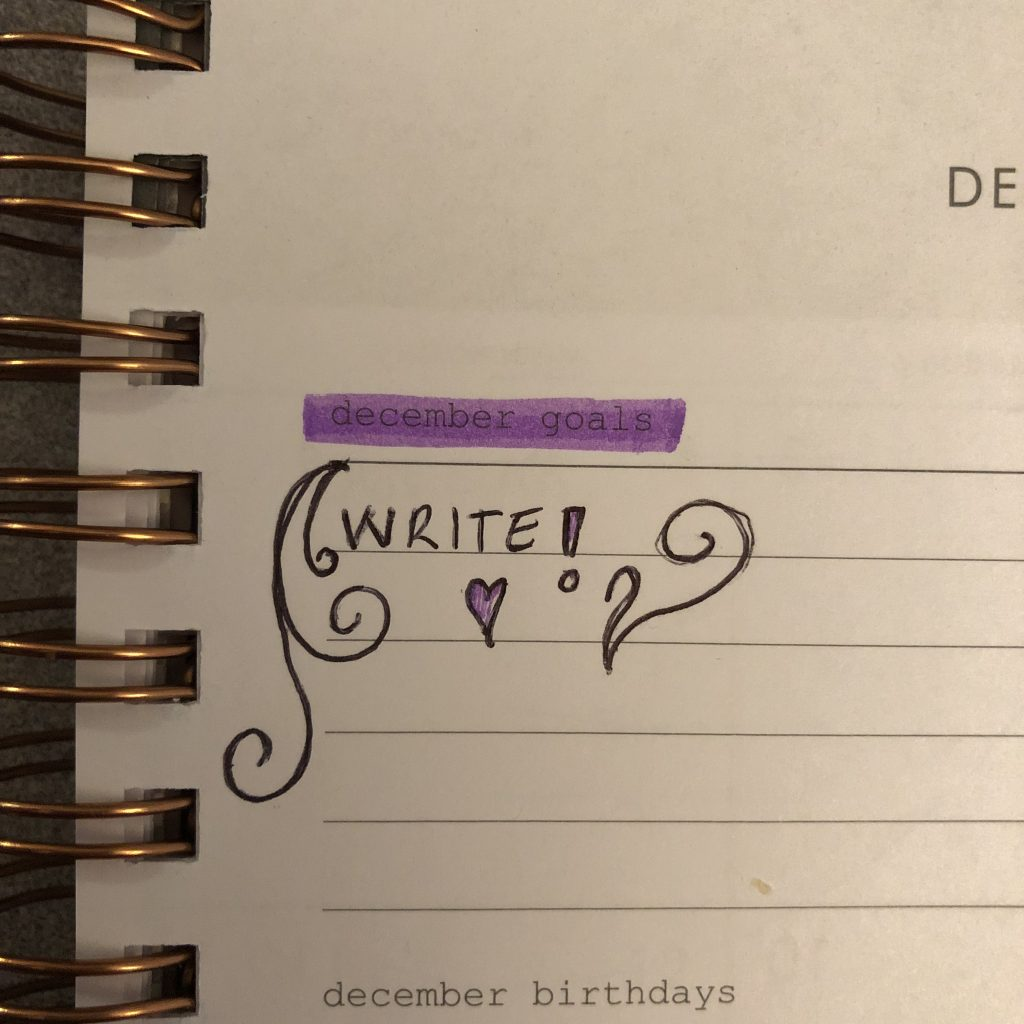 Goal in notebook: write!