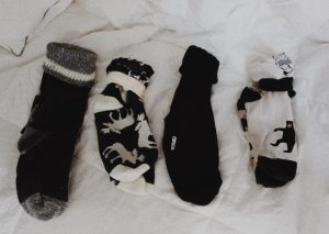pairs of socks folded