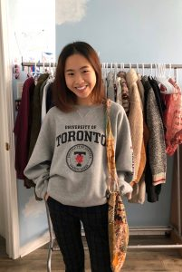 picture of me wearing a Roots x U of T crewneck