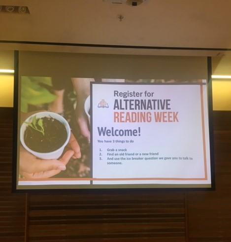 Alternative Reading Week Presentation Photo