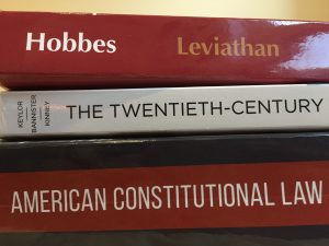 A pile of textbooks