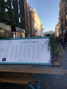 Entrance to Covent Garden in London.