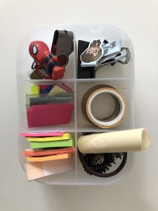 picture of a small container with miscellaneous items