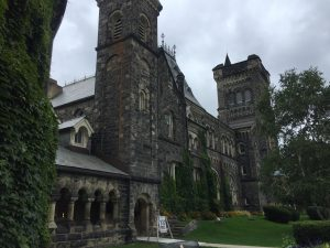 A picture of University College at the UofT.