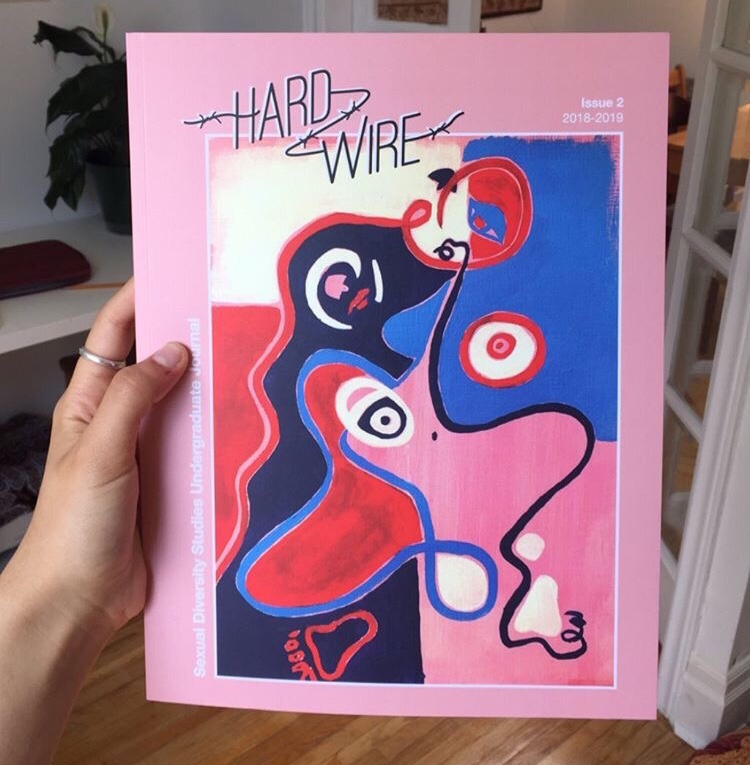 A picture of the second edition of Hardwire: the Undergraduate Journal of Sexual Diversity Studies