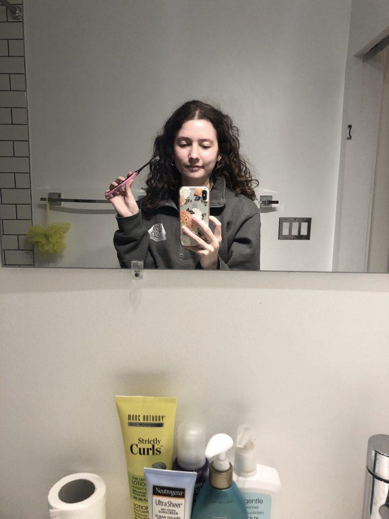 Me, brushing my teeth.