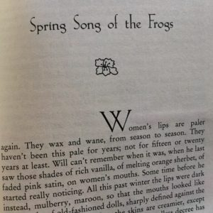 Spring Song of the Frogs first page.