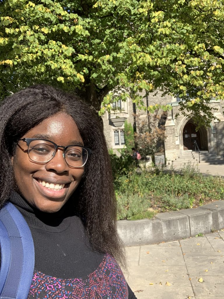 Grace on U of T campus