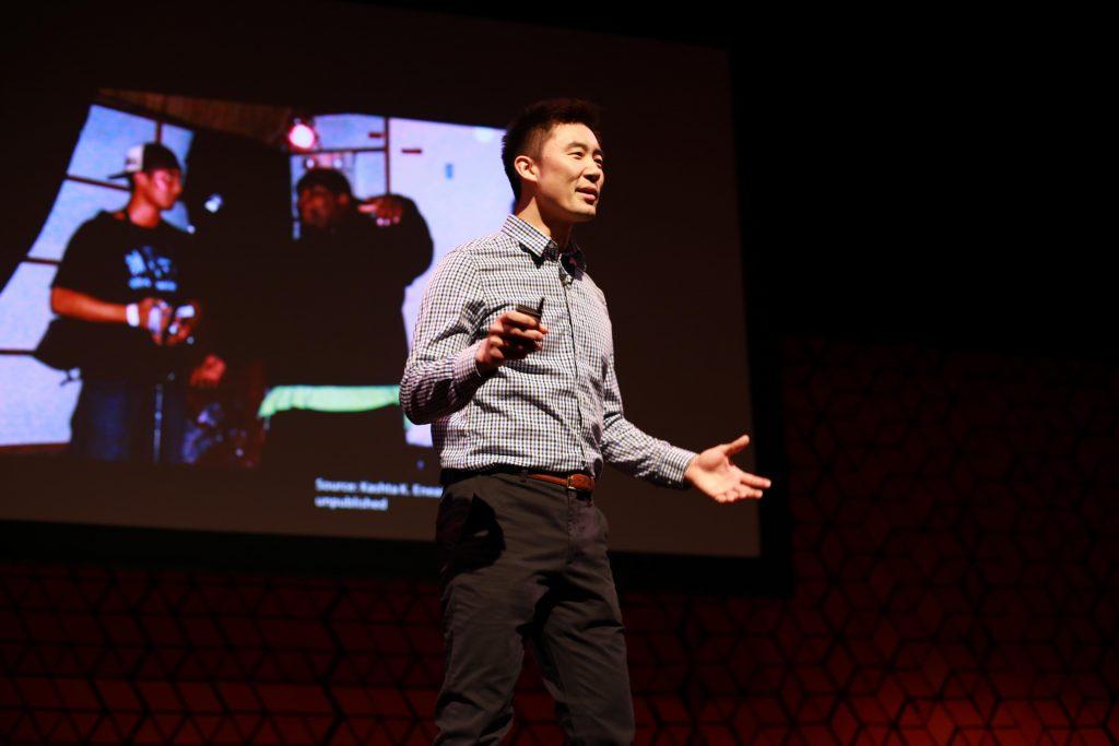 Speaker at a TedxUofT talk