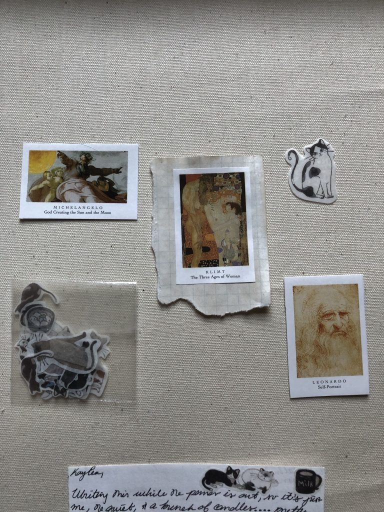 cat and art stickers