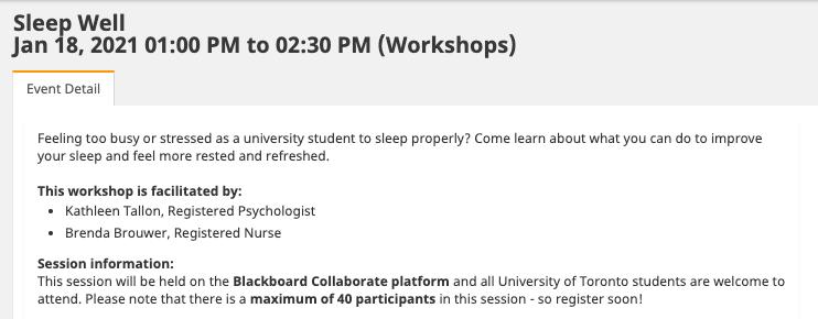 sleep well CLNx event description