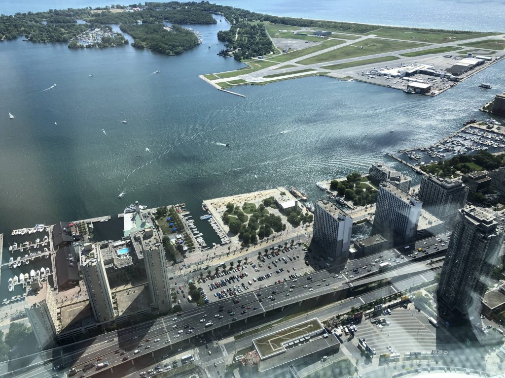Aerial View of the Downtown Toronto Waterfront