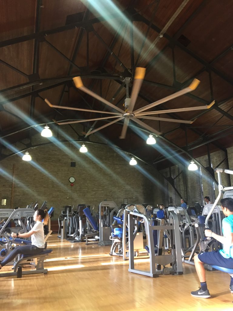 A picture of the inside of the Hart House gym