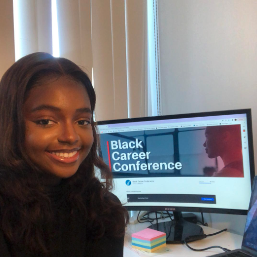 Me attending the Black Career Conference held by Black Rotman Commerce at U of T