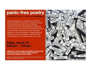 panic-free poetry