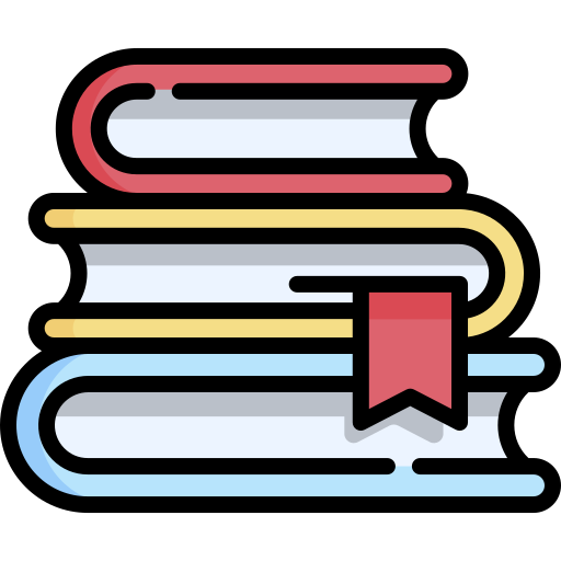 A stack of books. Icon made by https://www.freepik.com