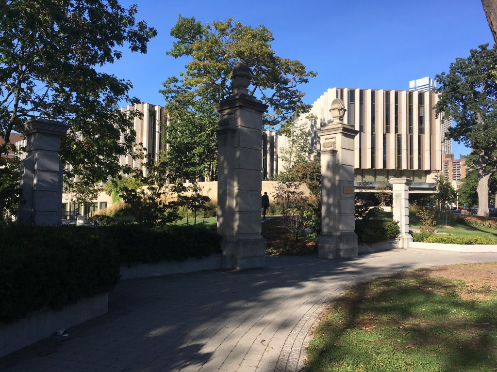 Photo of the Entrance to Philosopher's Walk, University of Toronto