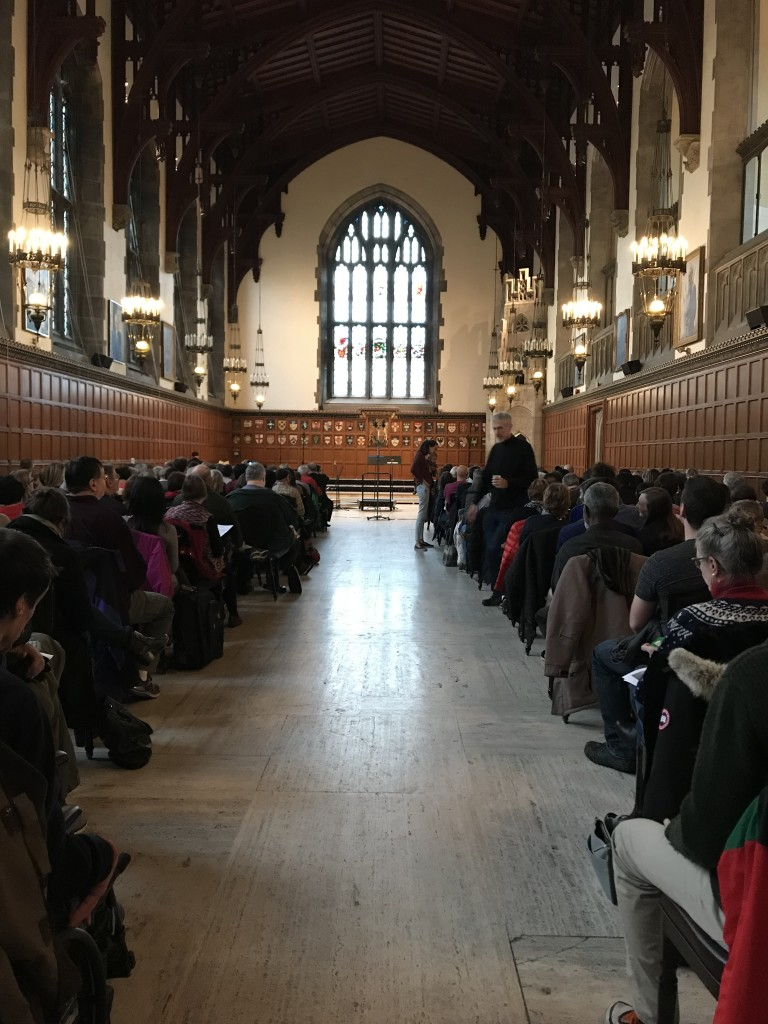 A picture of Great hall in Hart House where the concert was located