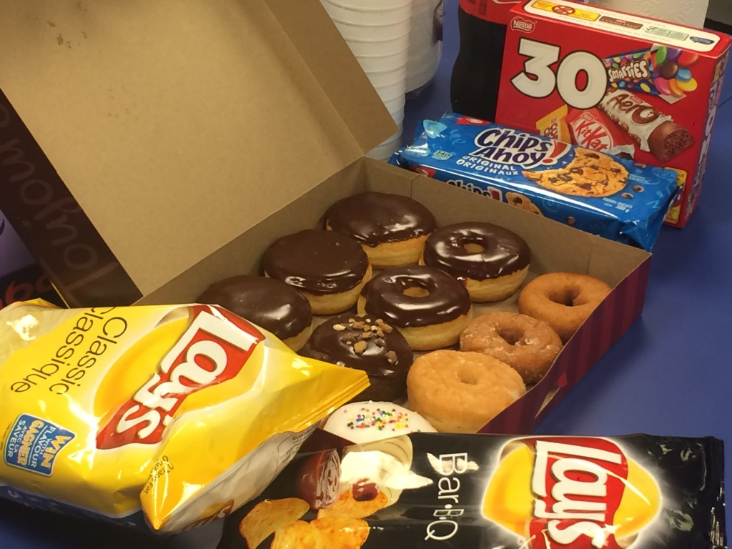 A picture of food during my games night event