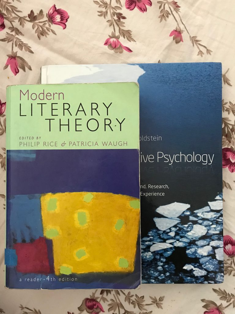 Psychology and English textbooks