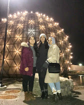 My friends and I at the dome near Ontario Place.