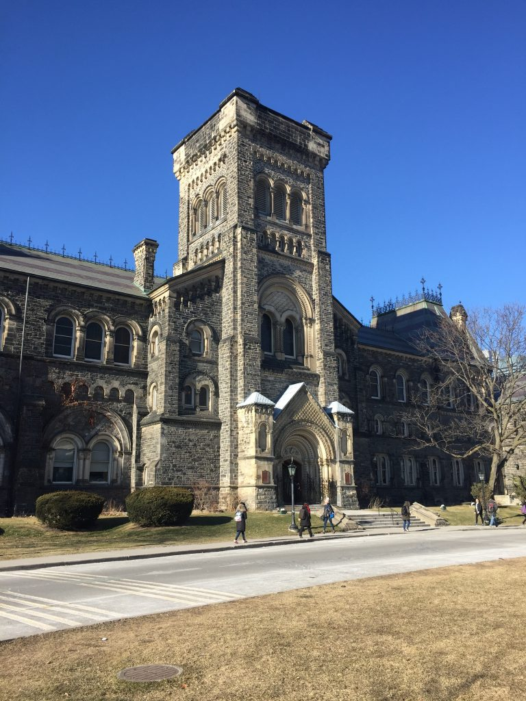 A photo of University College at the University of Toronto