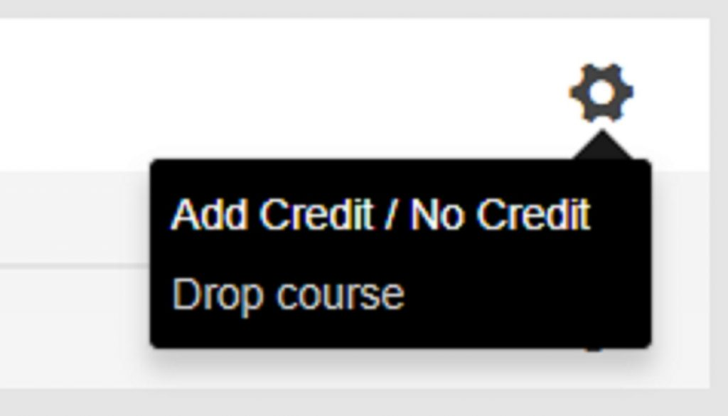 Image of the drop course icon from ACORN. Caption: To drop or not to drop, that is the question