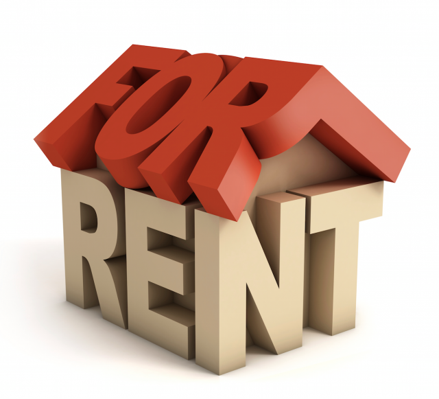 "3d words of ""For Rent"""