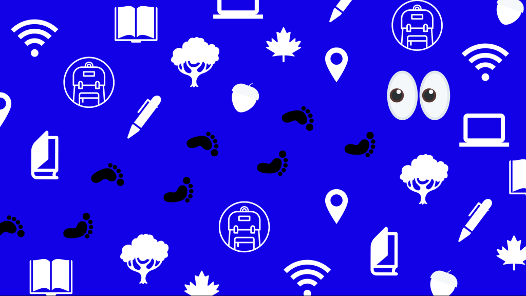 pattern with U of T and school related icons