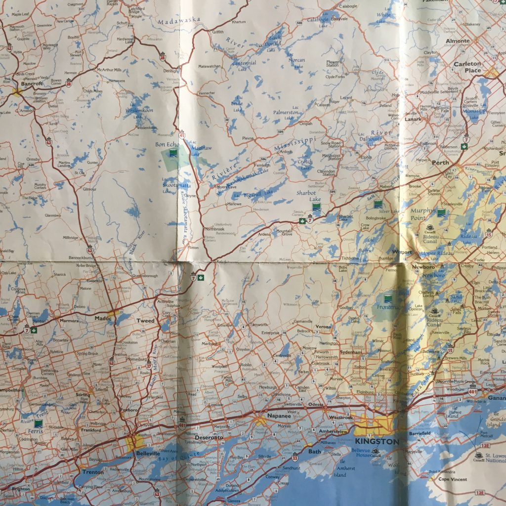 Map of Eastern Ontario