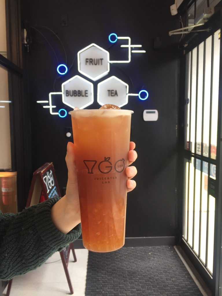 A picture of bubble tea