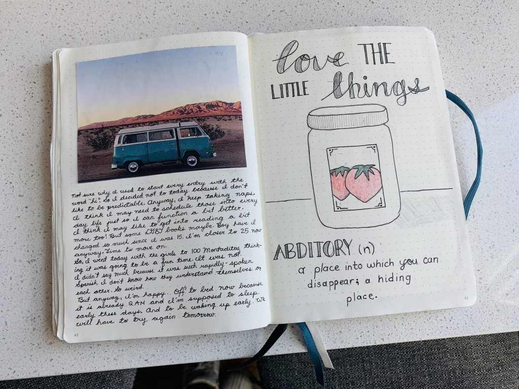 picture of Grace's journal