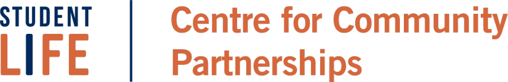 Orange Logo for the Centre for Community Partnerships