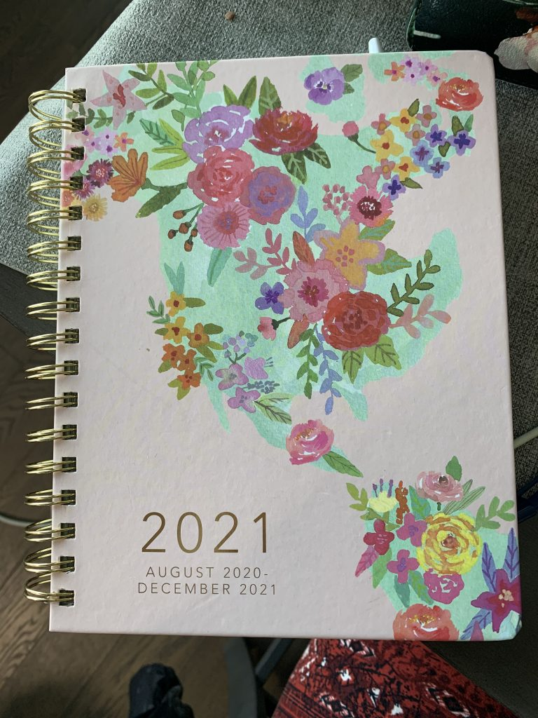 a pink 2020-2021 planner