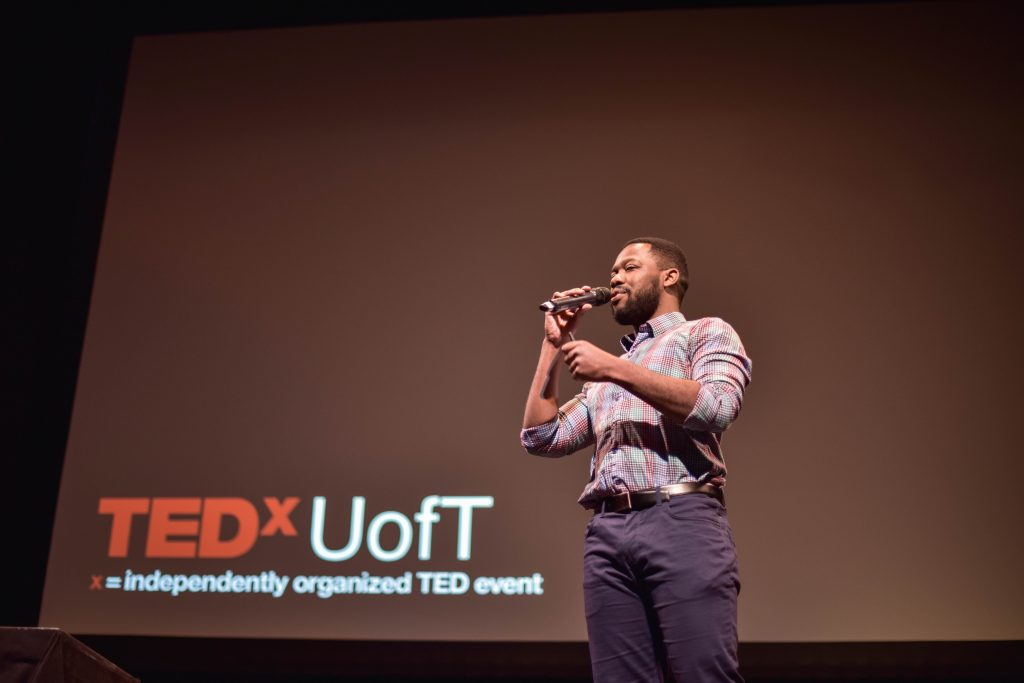 Speaker at a TedxUofT talk