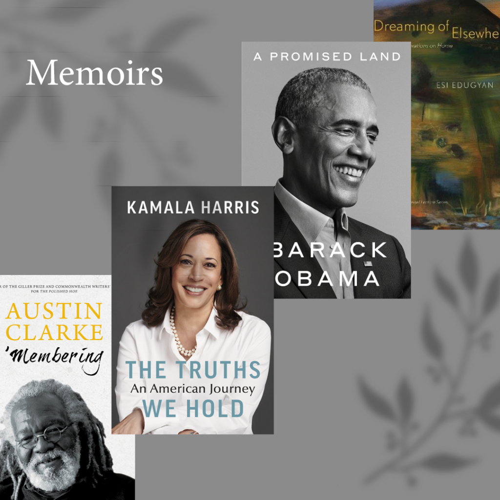 Black History Month Memoirs Book Covers