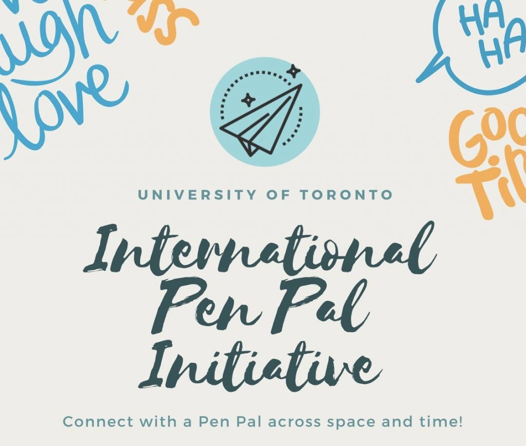 "Poster that reads ""international pen pal intitiative""."