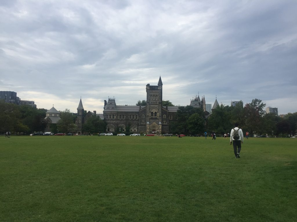 A picture of front campus at UofT