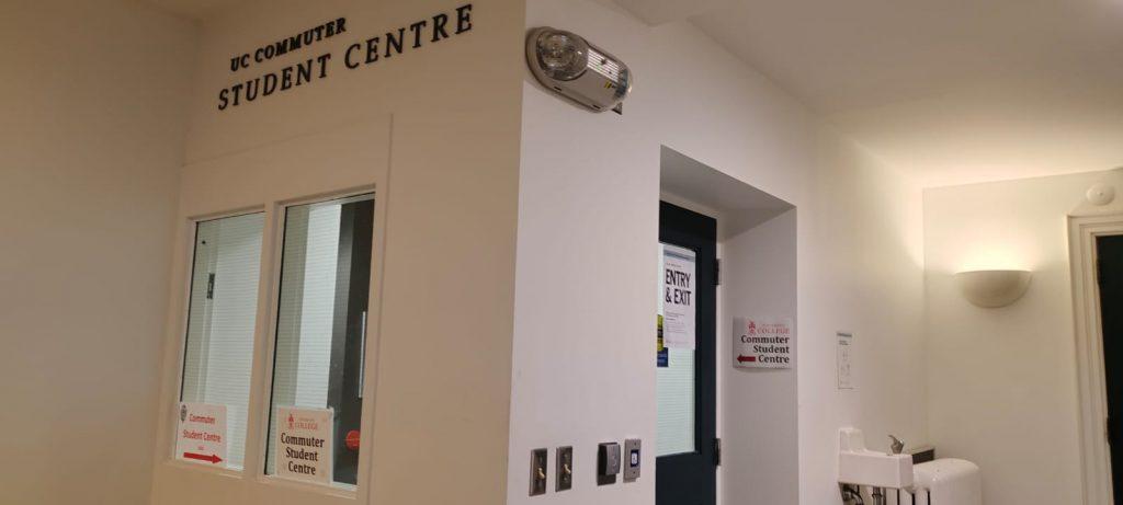 The UC Commuter Student Centre entrance